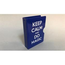 Keep Calm and Do Magic Card Guard Blue