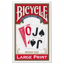 Bicycle Large Print Rosu